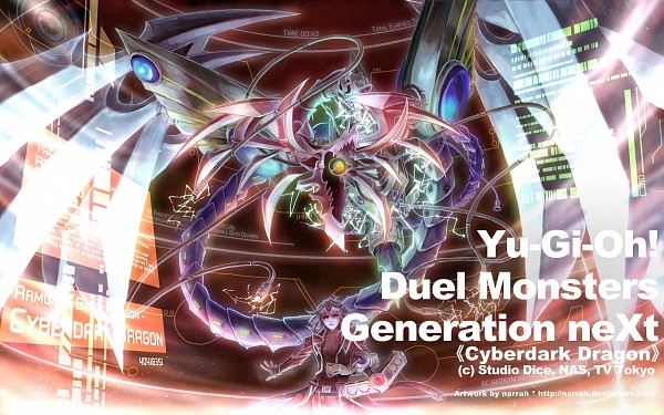 Tags: Anime, Yu-Gi-Oh! GX, Yu-Gi-Oh!, Marufuji Ryou, Hell Kaiser Ryou, Cyber Dark Armed Dragon, Wallpaper, Artist Request, Zane Truesdale