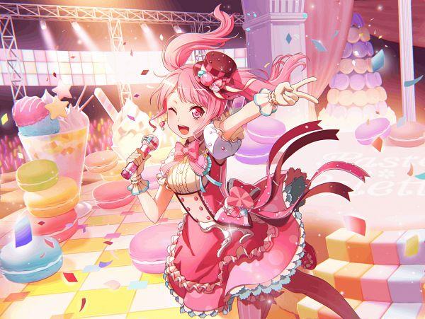 Tags: Anime, Craft Egg, BanG Dream! Girls Band Party!, Maruyama Aya, Official Art, Official Card Illustration, PNG Conversion