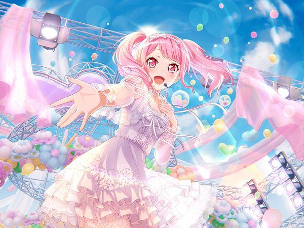 Tags: Anime, Craft Egg, BanG Dream! Girls Band Party!, Maruyama Aya, Official Card Illustration, Official Art