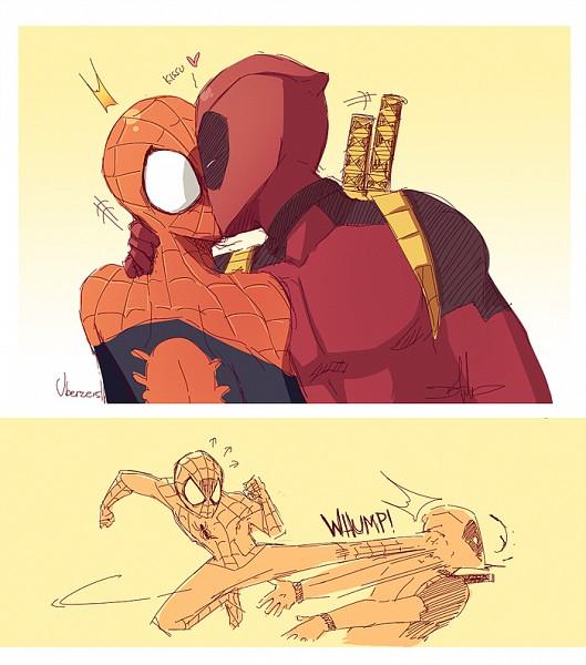 Tags: Anime, Uberzers, Spider-Man, Deadpool (Wade Wilson), Spider-Man (Character), Marvel, deviantART