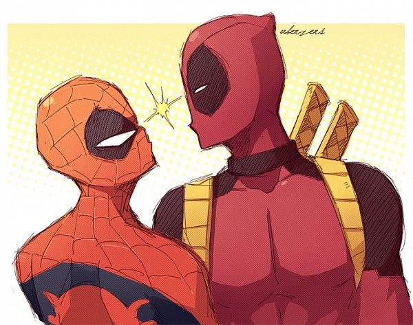Tags: Anime, Uberzers, Spider-Man, Spider-Man (Character), Deadpool (Wade Wilson), Marvel