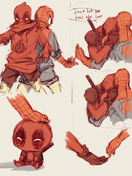 Tags: Anime, Pixiv Id 4414741, Spider-Man, Deadpool (Wade Wilson), Spider-Man (Character), Marvel, Pixiv