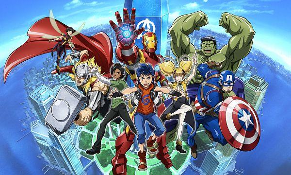 Tags: Anime, Umehara Takahiro, MADHOUSE, Marvel Future Avengers, Thor Odinson, Adi (Marvel Future Avengers), Anthony Edward Stark, Hulk, Makoto (Marvel Future Avengers), Steven Rogers, Iron Man (Character), The Wasp, Janet van Dyne