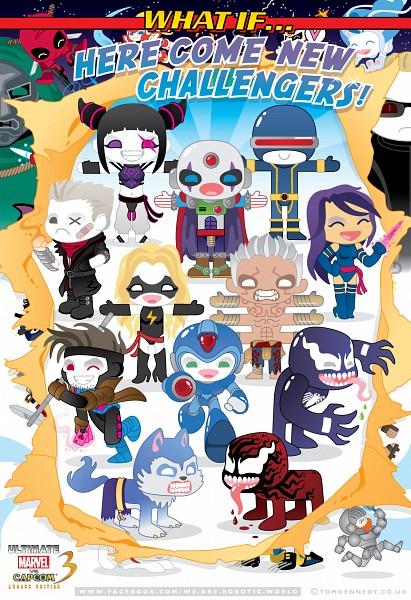 Tags: Anime, Marvel, Spider-Man, X-Men, Asura's Wrath, Street Fighter, Marvel vs. Capcom, Darkstalkers, Rockman, Deadpool (Wade Wilson), Juri Han, Gambit, Psylocke