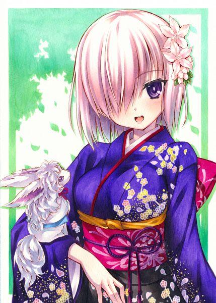 Tags: Anime, Yuto Cafe, Fate/Grand Order, Mash Kyrielight, Shielder (Fate/Grand Order), Grand New Year, Happy 2016, Mobile Wallpaper