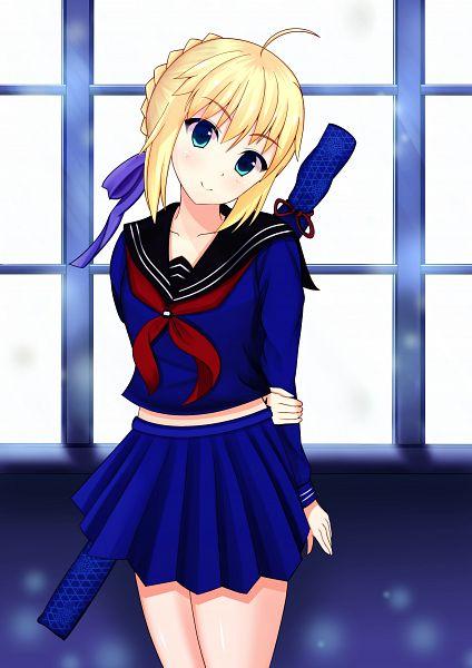 Tags: Anime, Pixiv Id 14567996, Capsule Servant, Master Artoria, Saber (Fate/stay night), Mobile Wallpaper