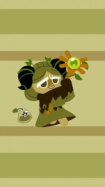 Tags: Anime, Pixiv Id 9522935, Cookie Run: OvenBreak, Cookie Run, Green Tea Bag, Matcha Cookie, Fanart, Mobile Wallpaper, Fanart From Pixiv, Pixiv