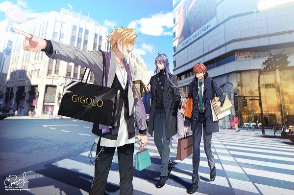 Tags: Anime, Pixiv Id 3125318, Hypnosis Mic -Division Rap Battle-, Izanami Hifumi, Kannonzaka Doppo, Jinguuji Jakurai, Fanart, Matenrou
