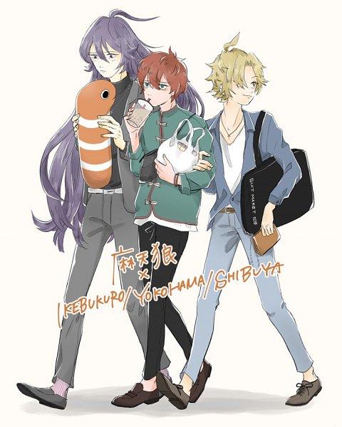Tags: Anime, Pixiv Id 15789859, Hypnosis Mic -Division Rap Battle-, Jinguuji Jakurai, Izanami Hifumi, Kannonzaka Doppo, Matenrou