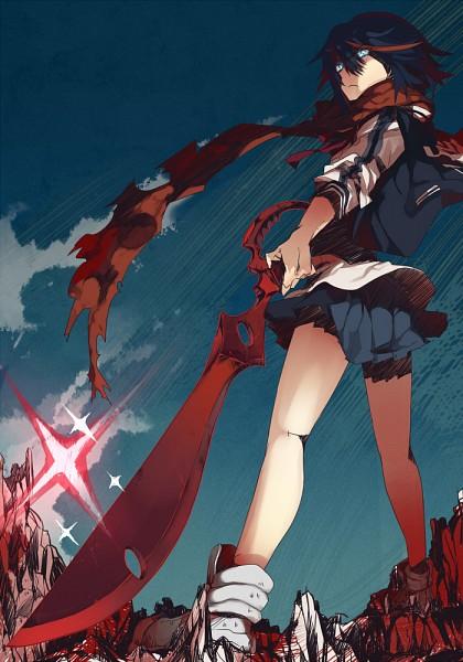Tags: Anime, Kazutake Hazano, KILL la KILL, Matoi Ryuuko, Sukajan, Mobile Wallpaper, Pixiv, Fanart, Ryuuko Matoi