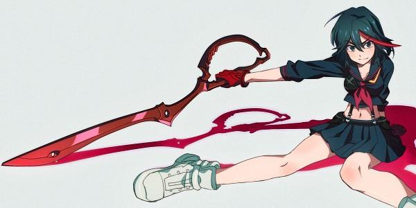 Tags: Anime, Pixiv Id 3391118, KILL la KILL, Matoi Ryuuko, 2:1 Ratio, Facebook Cover, Wallpaper, Fanart, Ryuuko Matoi