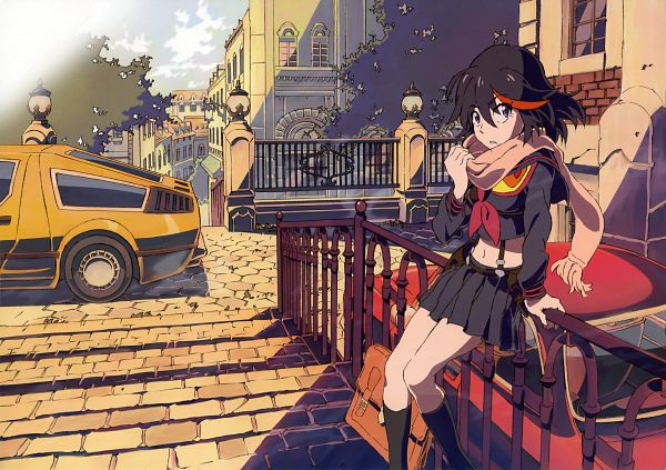 Tags: Anime, Takafumi Hori, Trigger (Studio), KILL la KILL, Newtype Illustration Calendar 2014, Matoi Ryuuko, Delorean, Official Art, Scan, Ryuuko Matoi