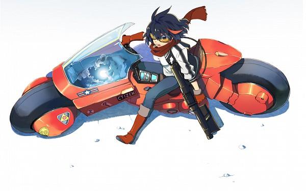 Tags: Anime, Sugi Koutarou, KILL la KILL, Matoi Ryuuko, AKIRA (Parody), Sukajan, Wallpaper, Fanart, Ryuuko Matoi