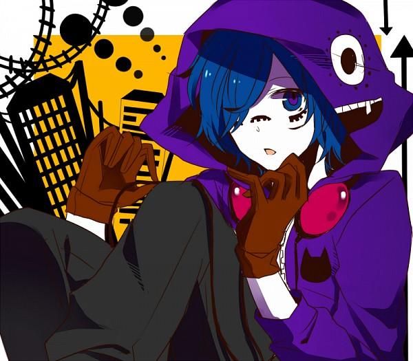 Tags: Anime, Haku0811, Soraru, Purple Hoodie, Matryoshka, Nico Nico Singer, Pixiv, Hachi-p, Fanart