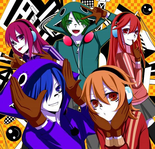 Tags: Anime, Pixiv Id 3345404, Suzumu, Soraru, Saine (Character), Lon, MACCO (Character), Bunny Ear Gesture, Smiley Face, Nico Nico Singer, Pixiv, Nico Nico Douga, Matryoshka