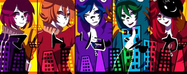 Tags: Anime, Pixiv Id 3842454, Lon, MACCO (Character), Soraru, Suzumu, Saine (Character), Smiley Face, Hachi-p, Matryoshka, Facebook Cover, Nico Nico Singer, Asukasoromanya-z