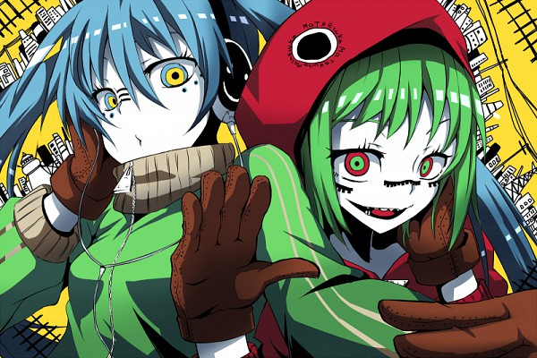 Tags: Anime, VOCALOID, Hatsune Miku, GUMI, Artist Request, Fanart, Matryoshka