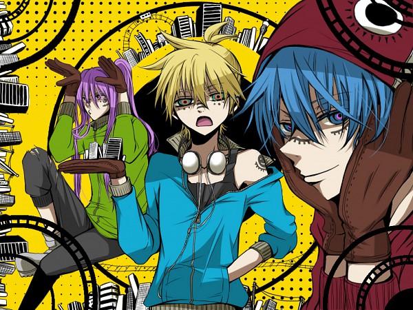 Tags: Anime, Inukai Mei, VOCALOID, Kagamine Len, Kamui Gakupo, KAITO, Bunny Ear Gesture, Matryoshka, Pixiv, Fanart