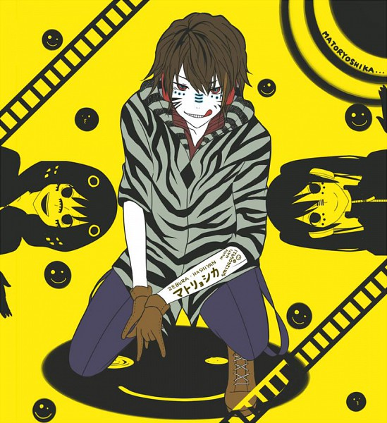 Tags: Anime, Nun (Artist), VOCALOID, GUMI, Hatsune Miku, Zebra (Nico Nico Singer), Zebra Print, Railroad Tracks, Smiley Face, Nico Nico Singer, Fanart, Nico Nico Douga, Pixiv