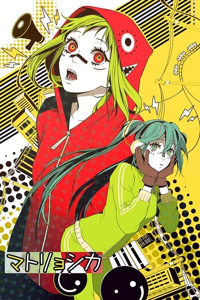 Tags: Anime, Tyuh, VOCALOID, GUMI, Hatsune Miku, Hachi-p, Matryoshka, Fanart, Pixiv, Mobile Wallpaper