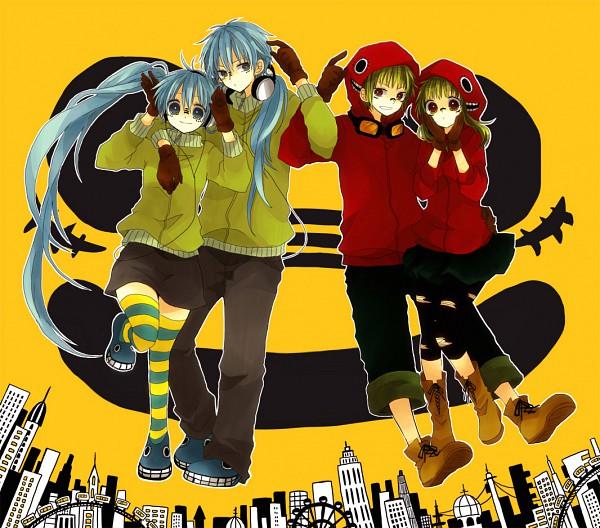 Tags: Anime, An (Pixiv1170947), VOCALOID, GUMO, Hatsune Miku, Hatsune Mikuo, GUMI, Matryoshka, Fanart, Pixiv