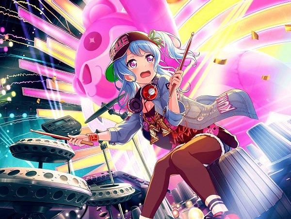 Tags: Anime, Craft Egg, BanG Dream! Girls Band Party!, Matsubara Kanon, Official Card Illustration, Official Art