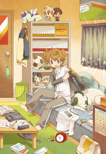 Tags: Anime, 0328uppi, Inazuma Eleven GO, Inazuma Eleven, Sasuke (Tenma's Dog), Matsukaze Tenma, Hakuryuu (Inazuma Eleven), Nishizono Shinsuke, Shuu (Inazuma Eleven), Tsurugi Kyousuke, Mobile Wallpaper, Pixiv, Fanart