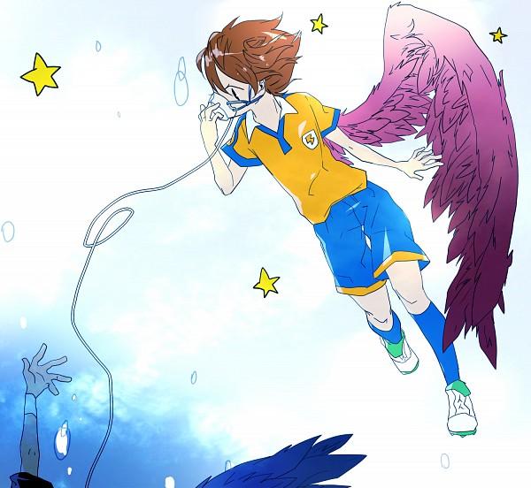 Tags: Anime, Pixiv Id 2242870, Inazuma Eleven, Inazuma Eleven GO, Tsurugi Kyousuke, Matsukaze Tenma, Pixiv, Fanart From Pixiv, Fanart