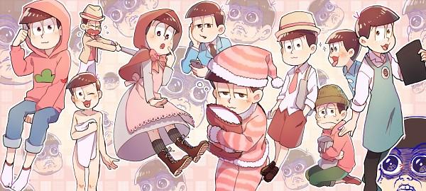 Tags: Anime, Pixiv Id 403991, Osomatsu-kun, Matsuno Todomatsu, Night Cap, Bowl Cut, Red Riding Hood (Cosplay)