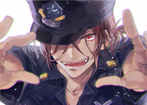Tags: Anime, AiRM, Free!, Matsuoka Rin, Depth Of Field, Blurry Edge, Police Hat, Hat Over One Eye, Pixiv, Fanart, Fanart From Pixiv
