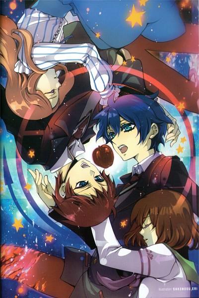 Tags: Anime, Sakondou Eri, Mawaru Penguindrum, Fabulous Anthology, Takakura Kanba, Oginome Ringo, Takakura Shouma, Takakura Himari, Scan, Mobile Wallpaper, Takakura Twins
