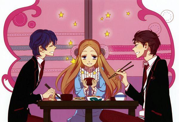 Tags: Anime, Hoshino Lily, Mawaru Penguindrum, Mawaru Penguindrum - Hoshino Lily Artworks, Takakura Shouma, Takakura Himari, Takakura Kanba, Official Art, Scan