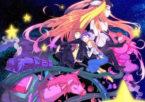 Tags: Anime, Pixiv Id 2463740, Mawaru Penguindrum, Princess of the Crystal, Takakura Shouma, Takakura Himari, Takakura Kanba, School Uniform (Mawaru Penguindrum), Pixiv, Fanart, Takakura Twins