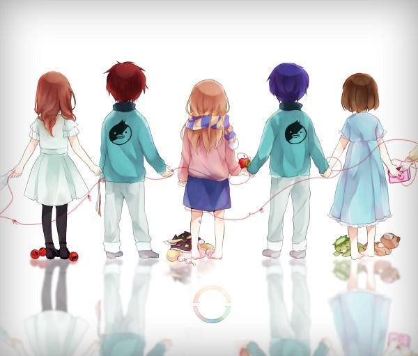 Tags: Anime, Pixiv Id 1149999, Mawaru Penguindrum, Natsume Masako, Oginome Ringo, Oginome Momoka (Mawaru Penguindrum), Takakura Shouma, Natsume Mario, Takakura Himari, Takakura Kanba, Grabbing Shirt, Diary, Takakura Twins