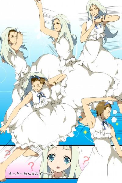 Tags: Anime, Tottsuan, Ano Hi Mita Hana no Namae o Bokutachi wa Mada Shiranai., Honma Meiko, Matsuyuki Atsumu, Mayu Tan No Kanfuu, Honma Meiko (Cosplay), Mobile Wallpaper, Fanart