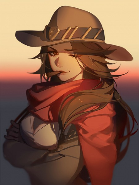 Tags: Anime, Asukaziye, Overwatch, McCree, Brown Hat, Cigar, Brown Headwear, Mobile Wallpaper, Twitter, Pixiv, Fanart From Pixiv, Fanart, PNG Conversion