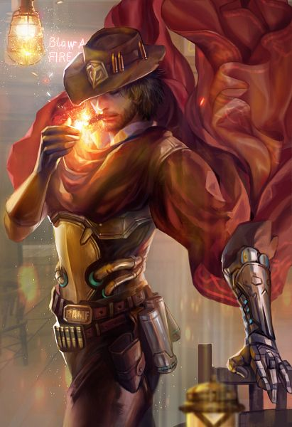 Tags: Anime, Yangfan, Overwatch, McCree, Cigar, Fanart From DeviantART, deviantART, Fanart