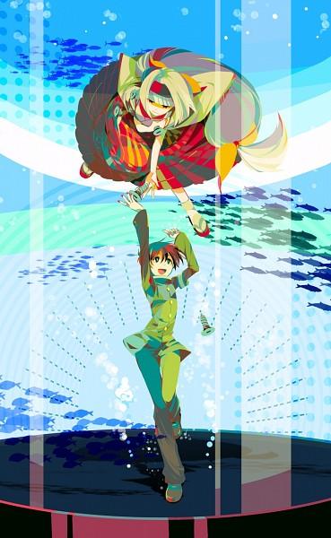 Tags: Anime, Pixiv Id 460274, Medaka Box, Ajimu Najimi, Kumagawa Misogi, Screws, PNG Conversion, Fanart From Pixiv, Pixiv, Fanart