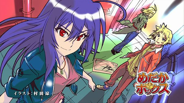 Tags: Anime, Medaka Box, Akune Kouki, Hitoyoshi Zenkichi, Kurokami Medaka, Wallpaper, HD Wallpaper, Medaka Box - Eyecatcher, Eyecatcher, Artist Request