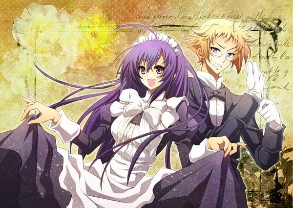 Tags: Anime, Soritari, Medaka Box, Kurokami Medaka, Hitoyoshi Zenkichi, Fanart, Pixiv