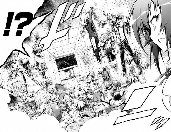 Tags: Anime, Akatsuki Akira, Medaka Box, Kurokami Medaka, Run Through, Manga Page, Scan