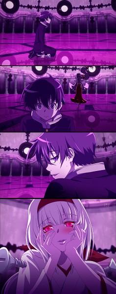 Tags: Anime, Medaka Box, Ajimu Najimi, Kumagawa Misogi, Screenshot