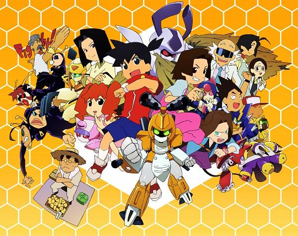 Tags: Anime, Pixiv Id 1860984, Medarot, Metabee, Rokusho (Medarot), Amazake Arika, Totalizer, Peppercat, Neutranurse, Agata Hikaru, Cyandog, Sumilidon, Karakuchi Kouji
