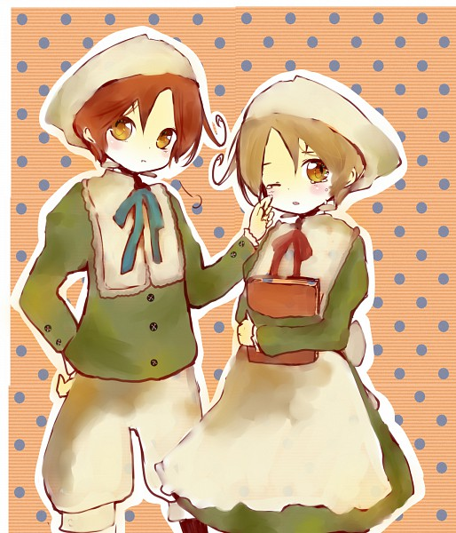 Tags: Anime, Axis Powers: Hetalia, North Italy, Chibimano, South Italy, Chibitalia, Mediterranean Countries