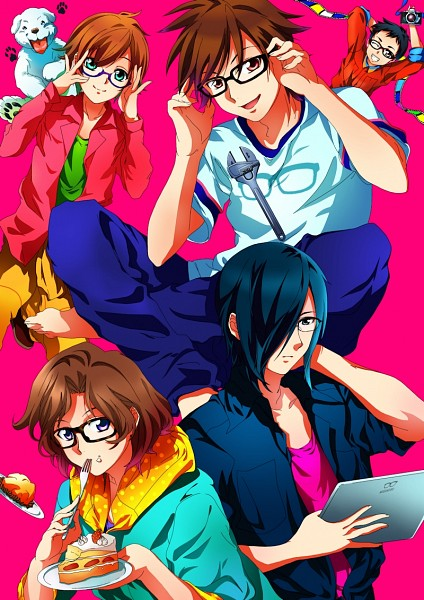 Tags: Anime, Meganebu!, Hayato Kimata, Mitsuki Kamatani, Norio, Yukiya Minabe, Akira Souma, iPad, Filmstrip