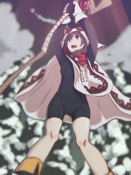 Tags: Anime, Pixiv Id 468133, Kono Subarashii Sekai ni Shukufuku wo!, Megumin, Mobile Wallpaper, PNG Conversion