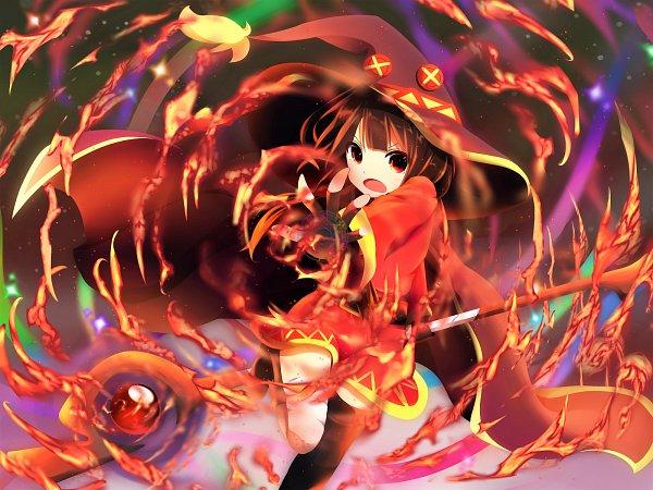 Tags: Anime, Pixiv Id 9850973, Kono Subarashii Sekai ni Shukufuku wo!, Megumin, Wallpaper