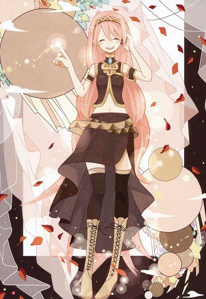 Tags: Anime, Sunaya, Hatsune Miku Graphics Character Collection Cv03 Megurine Luka, VOCALOID, Megurine Luka, Scan, Mobile Wallpaper
