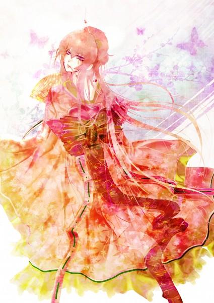 Tags: Anime, Pixiv Id 3117133, VOCALOID, Megurine Luka, Mobile Wallpaper