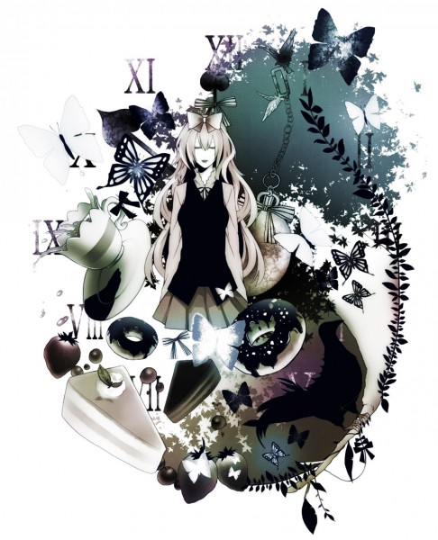 Tags: Anime, Meri-h-shino, VOCALOID, Megurine Luka, Roman Numerals, Pixiv